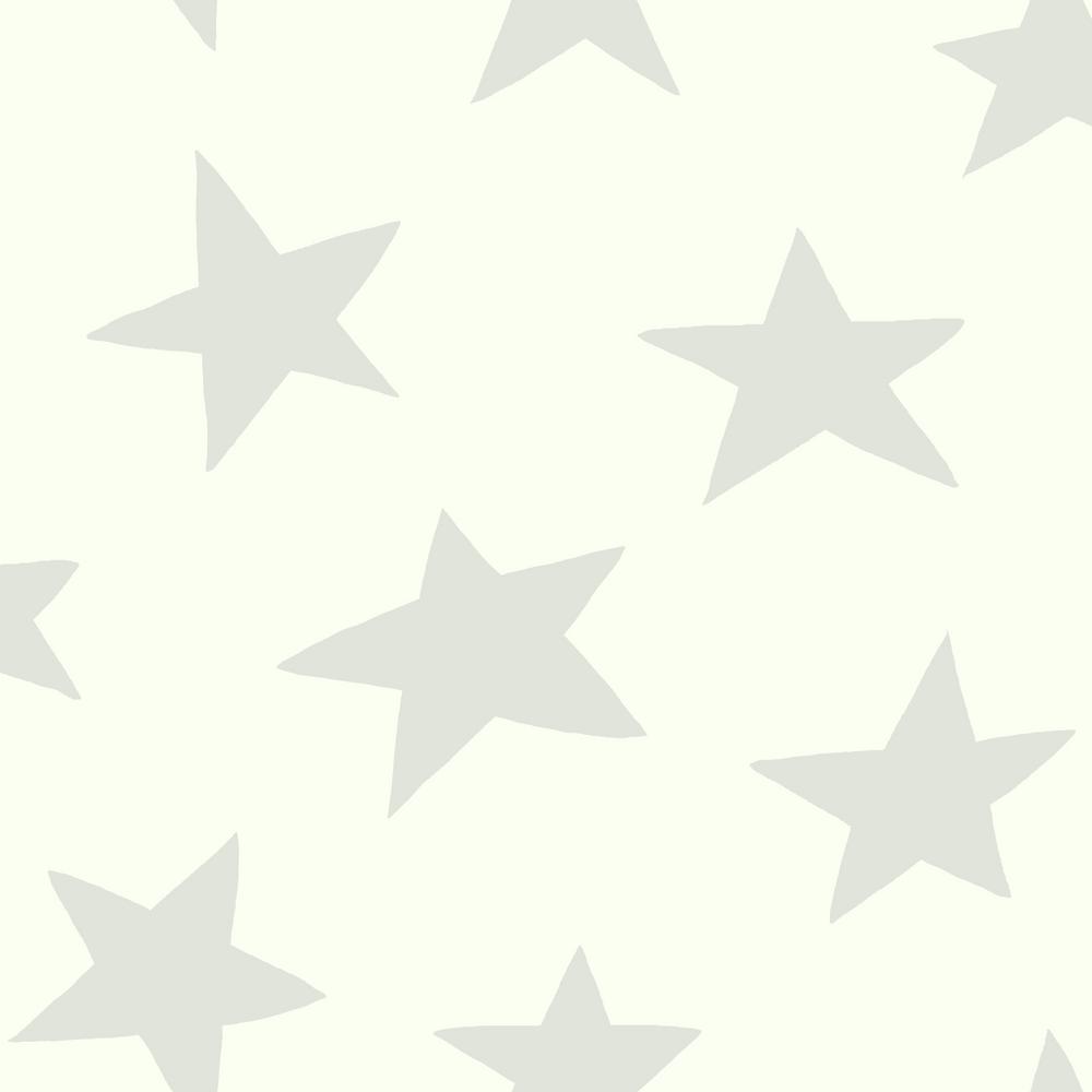 Star- Grey Vinyl Peelable Wallpaper (Covers 28.18 sq. ft.)