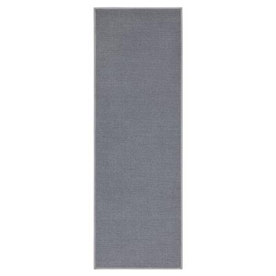 Oscar Collection Grey 20 in. x 59 in. Solid Runner Rug