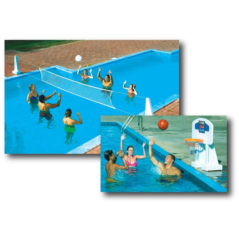 Swimline pool jam volleyball basketball combo for in for Pool design for volleyball