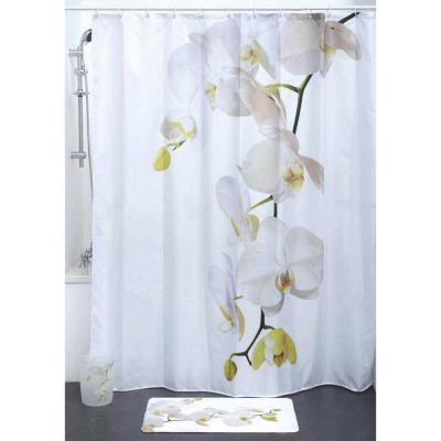 Purity Orchid 71 in. x 79 in. Multicolored Polyester Bath Fabric Shower Curtain