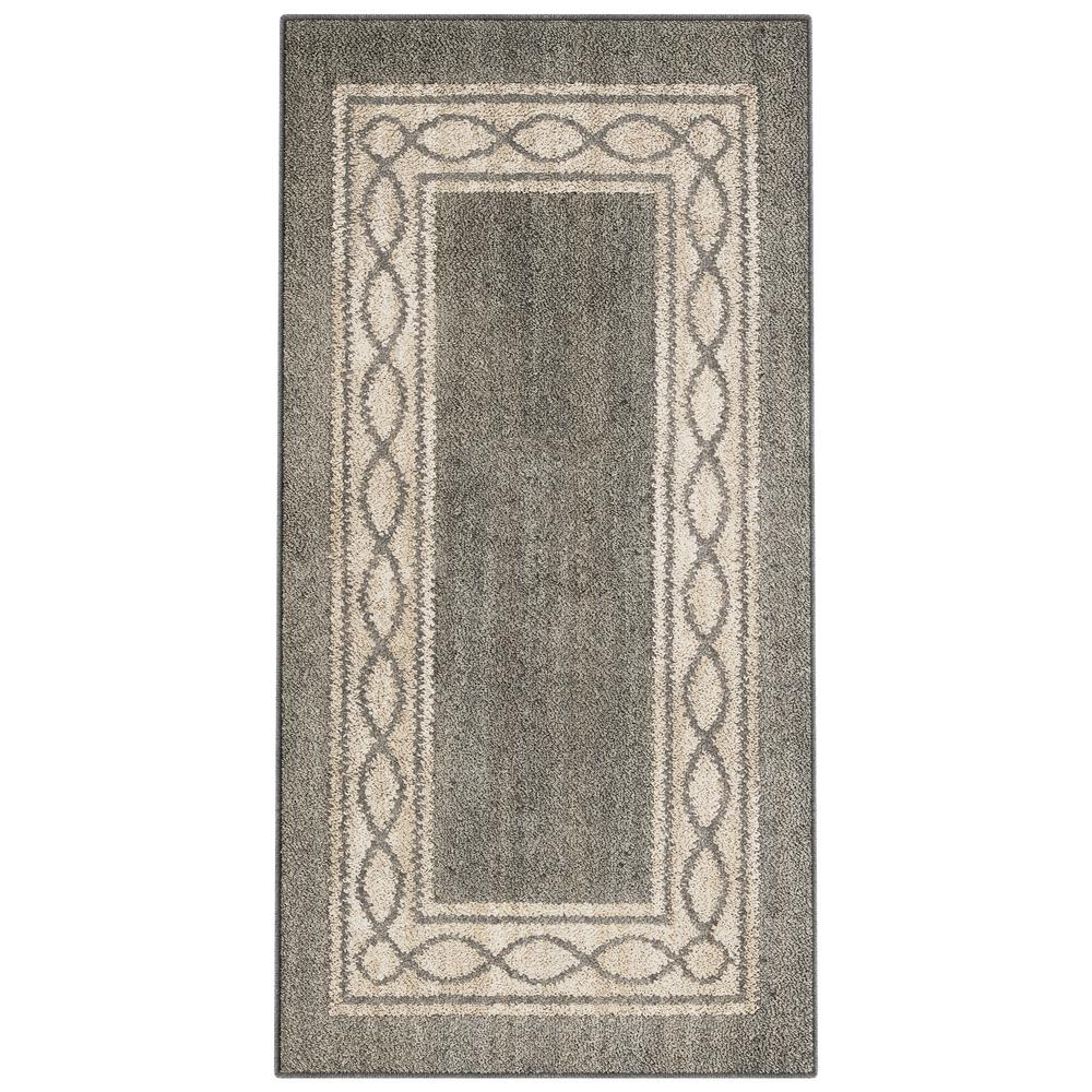 PetProof Sparrow Elephant Gray/ Bone White 2 ft. x 4 ft. Area Rug