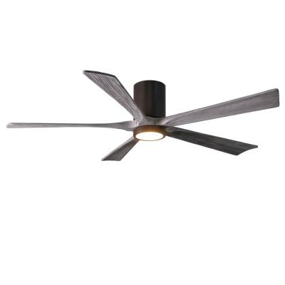 Irene 60 in. LED Indoor/Outdoor Damp Textured Bronze Ceiling Fan with Light with Remote Control, Wall Control