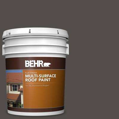5 gal. #PPU24-02 Berry Brown Flat Multi-Surface Exterior Roof Paint
