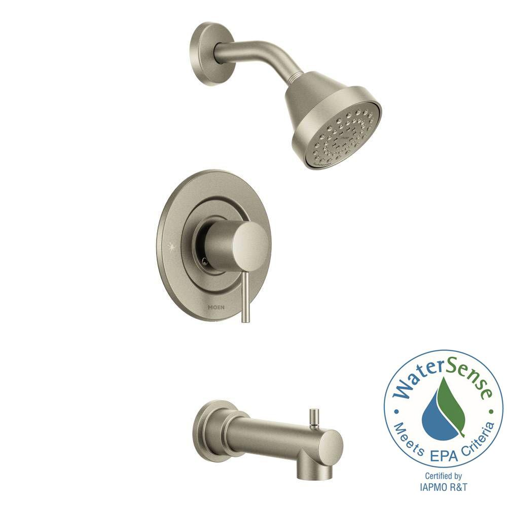 Align Single-Handle Posi-Temp Tub and Shower Faucet Trim Kit in Brushed