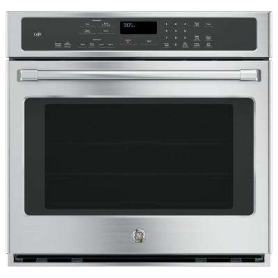 30 in. Single Electric Smart Wall Oven with Convection Self-Cleaning and Wi-Fi in Stainless Steel