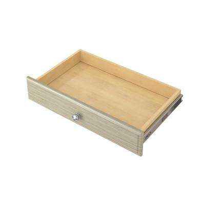 4 in. H x 24 in. W Rustic Grey Wood Deluxe Drawer Kit