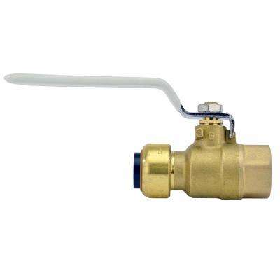 1/2 in. Brass Push-to-Connect x Female Pipe Thread Ball Valve