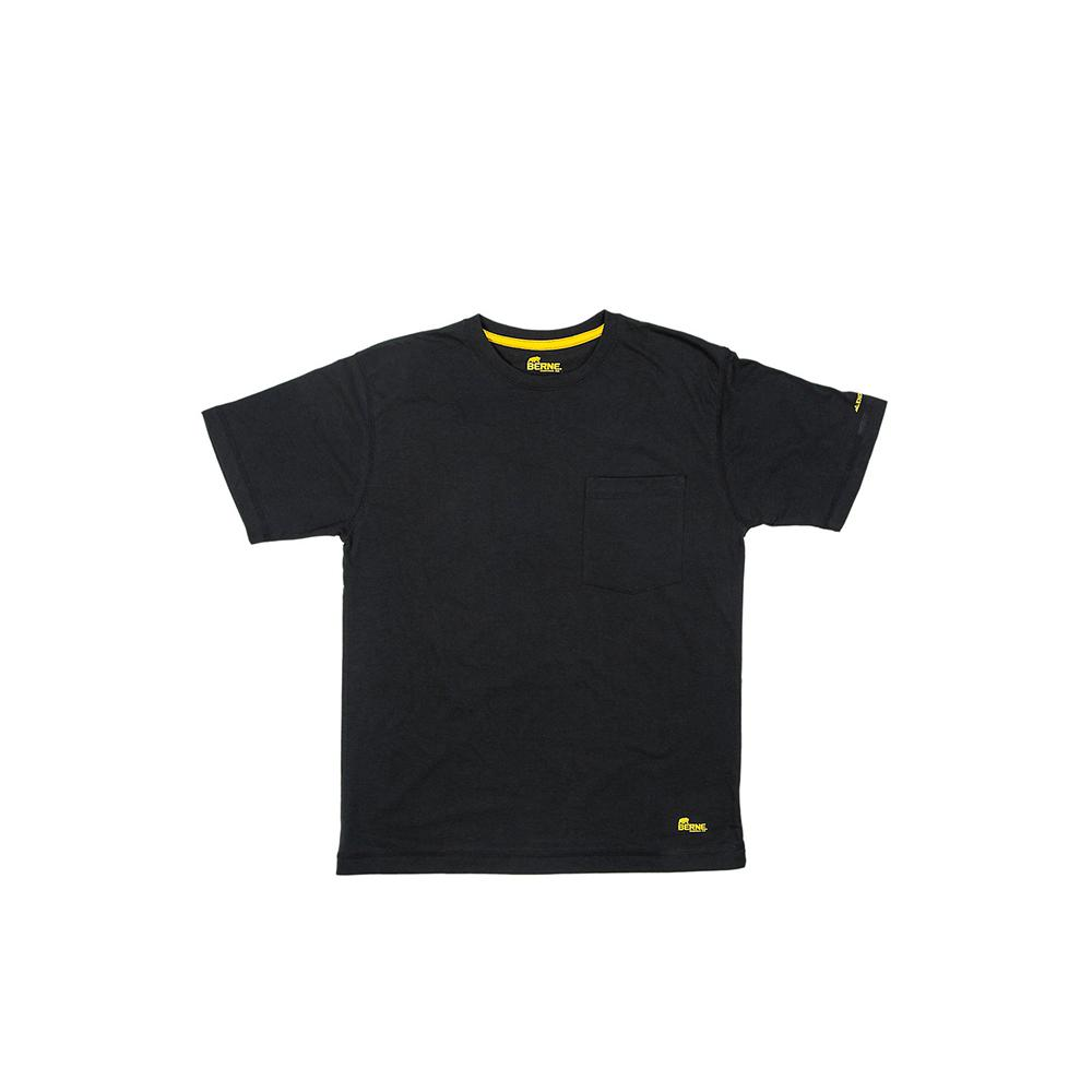 0f99d5a9a984 Men's Large Regular Black Cotton and Polyester Light-Weight Performance T- Shirt