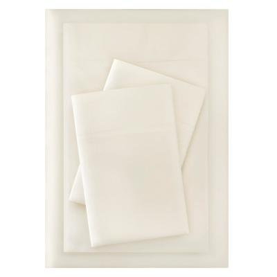 Brushed Soft Microfiber 4-Piece Queen Sheet Set in Ivory