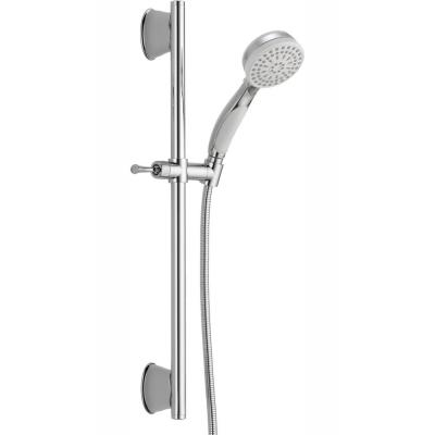 ActivTouch 9-Spray 3.7 in. Single Wall Mount Handheld Shower Head in White/Chrome