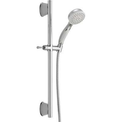 ActivTouch 9-Spray Handheld Showerhead with Slide Bar and Pause in Chrome / White