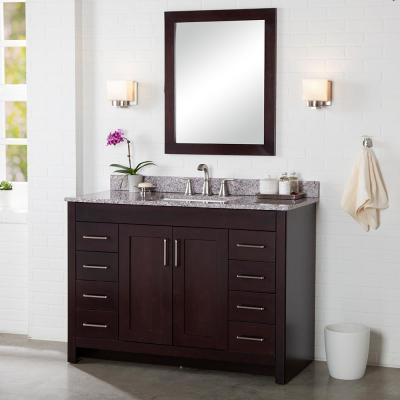 Westcourt 48 in. W x 21 in. D x 34 in. H Bath Vanity Cabinet Only in Chocolate