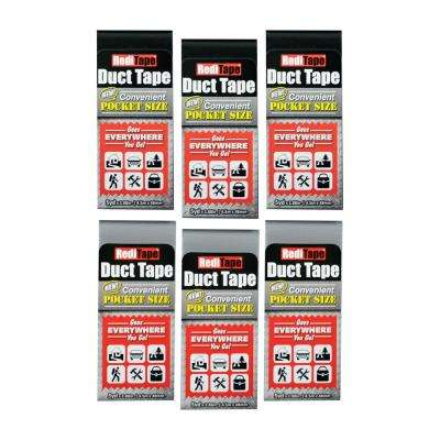 RediTape Pocket Size Duct Tape Original in Black and Silver (6-Pack)