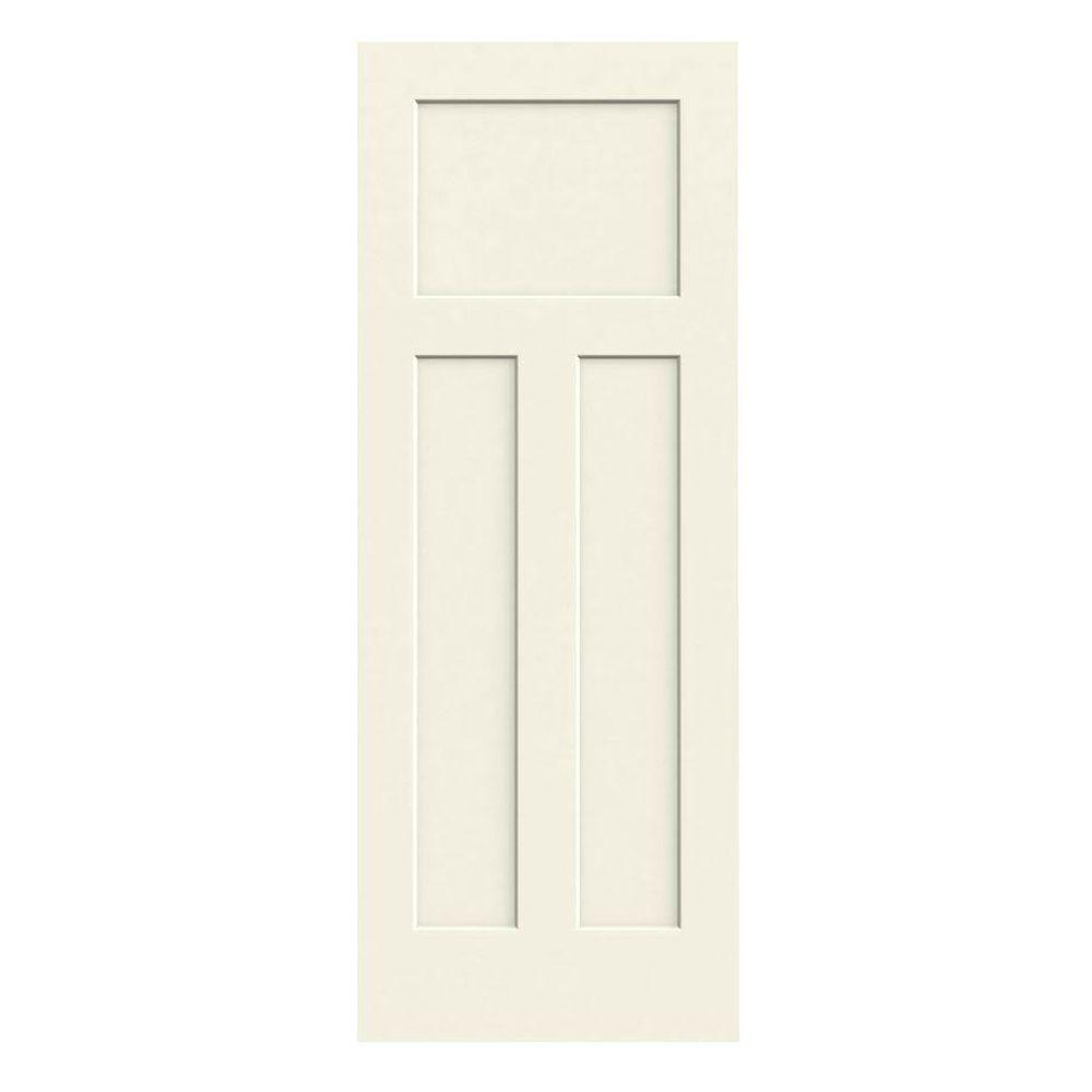 36 in. x 80 in. Craftsman Vanilla Painted Smooth Solid Core