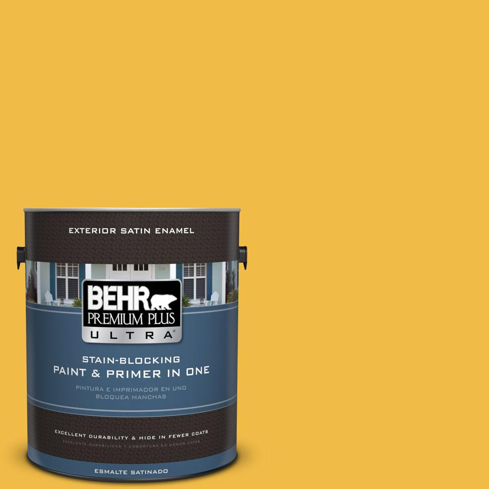 BEHR Premium Plus Ultra 1-gal. #P280-6 Bling Bling Satin Enamel Exterior Paint