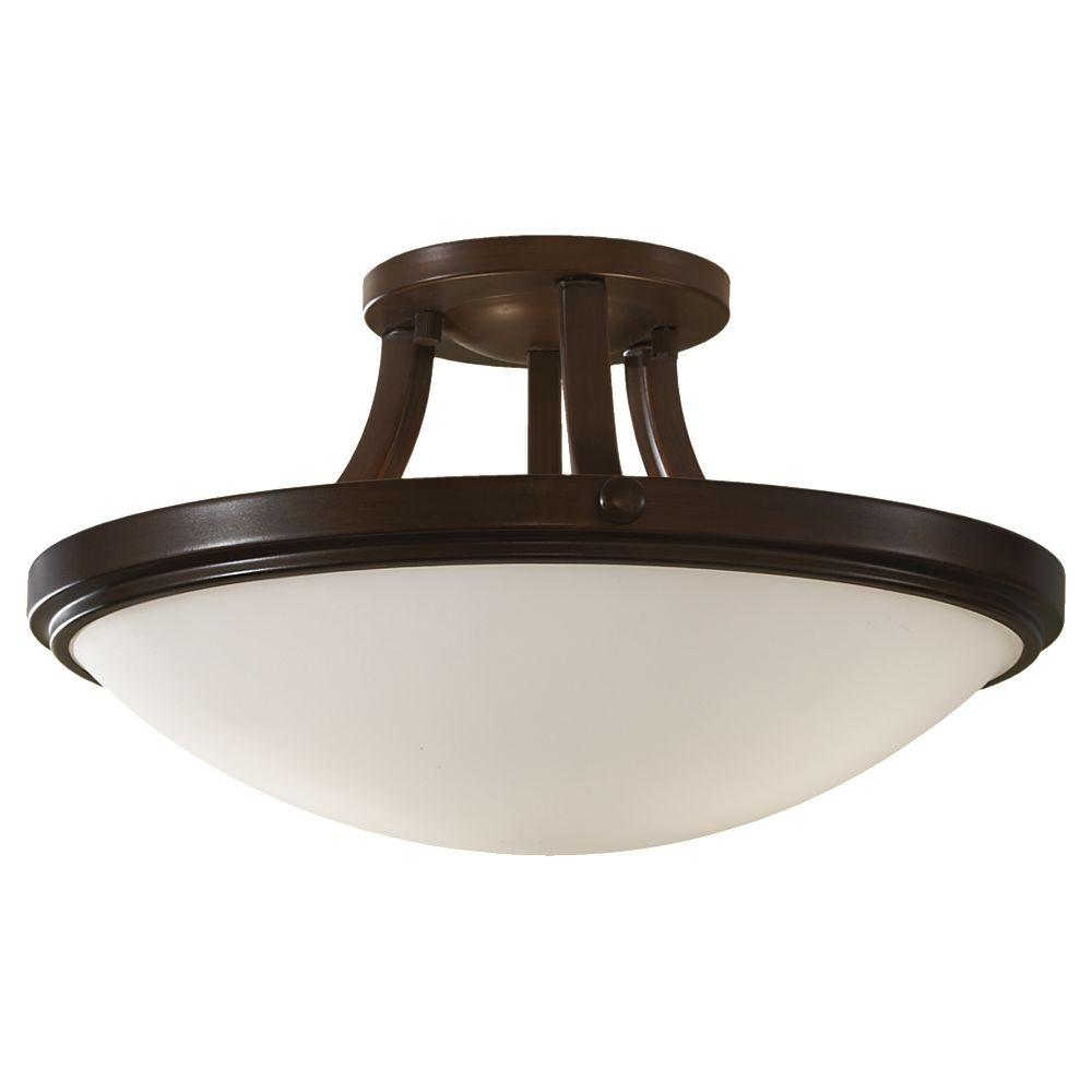 Bronze Semi Flush Ceiling Light