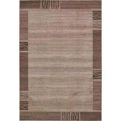 Del Mar Light Brown 6 ft. x 9 ft. Area Rug
