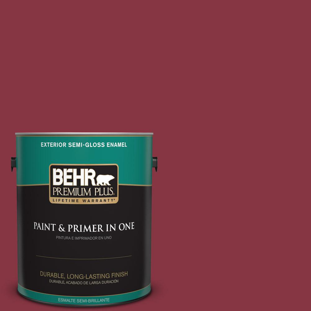 1-gal. #S-H-120 Antique Ruby Semi-Gloss Enamel Exterior Paint