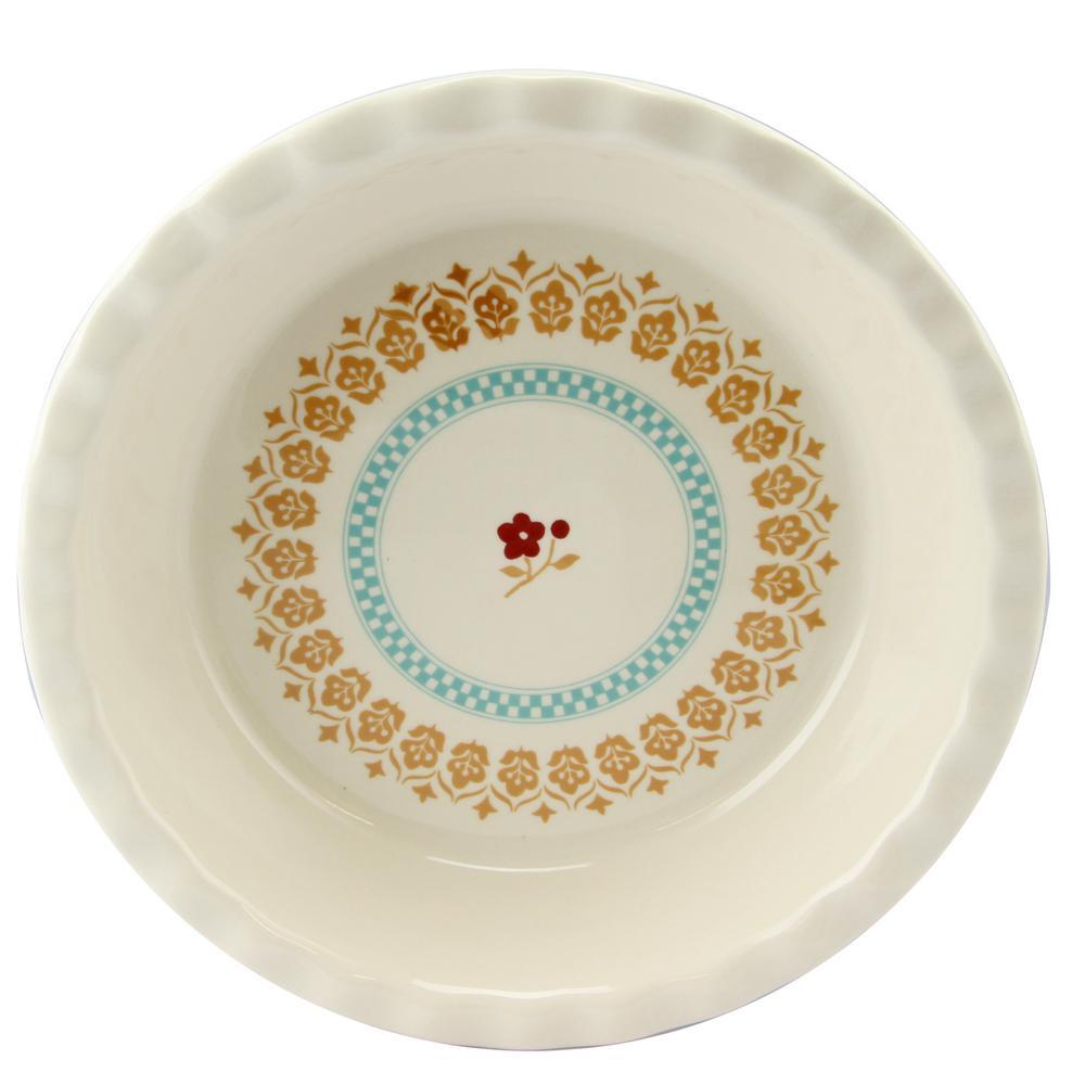 Hollydale 10 in. Round Stoneware Pie Dish
