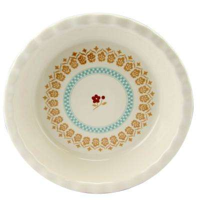 Hollydale 10 in. Round Stoneware Pie Dish