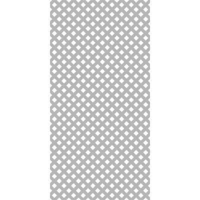 4 ft. x 8 ft. Weathered Gray Privacy Vinyl Lattice (2-Pack)