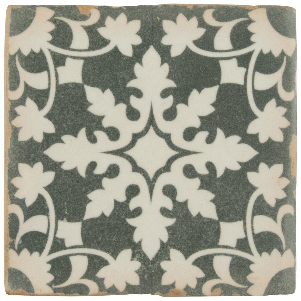 Archivo Zahra Encaustic 4-7/8 in. x 4-7/8 in. Ceramic Floor and
