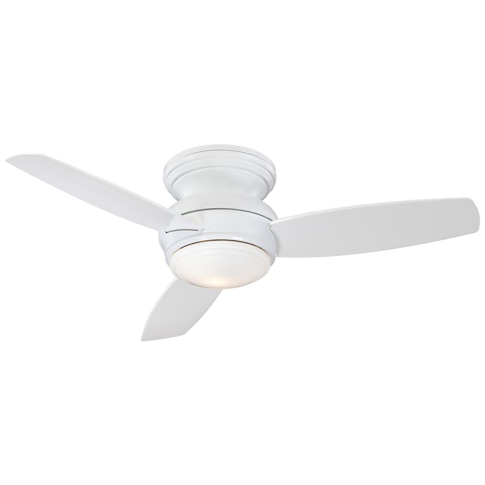 Minka-Aire Traditional Concept 44 in. Integrated LED Indoor/Outdoor White Ceiling Fan with Light with Wall Control
