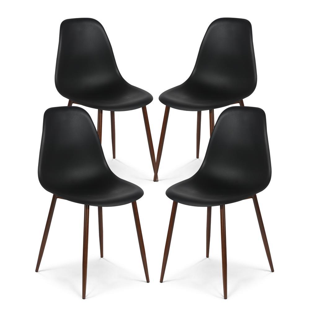 Landon Black Sculpted Dining Chair (Set of 4)