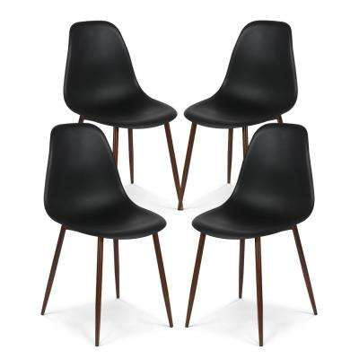 Landon Black Sculpted Dining Chair (Set of 4)