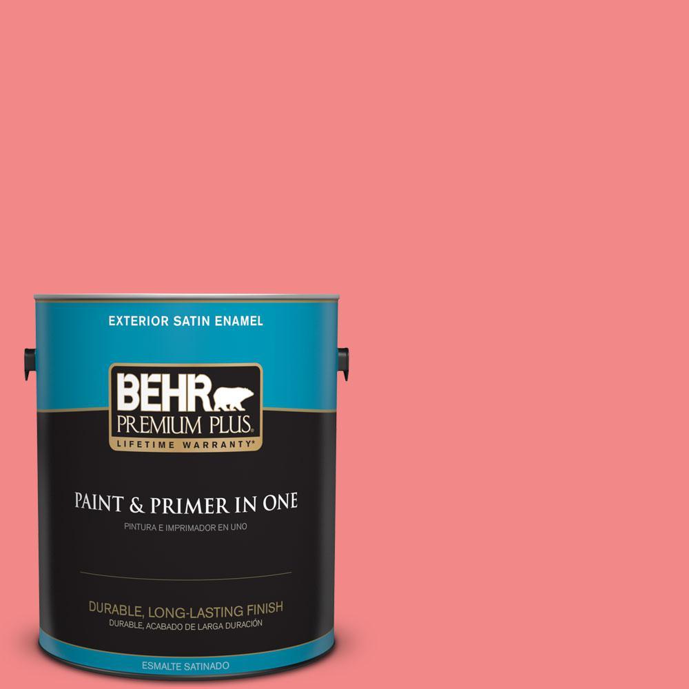 BEHR Premium Plus 1-gal. #150B-5 Cheery Satin Enamel Exterior Paint