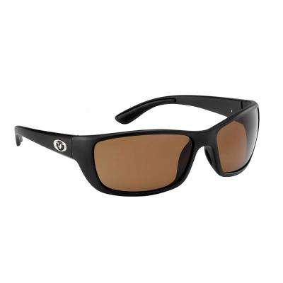 9f74d32a2a20f Cay Sal Polarized Sunglasses Matte Black Frame with Amber Lens
