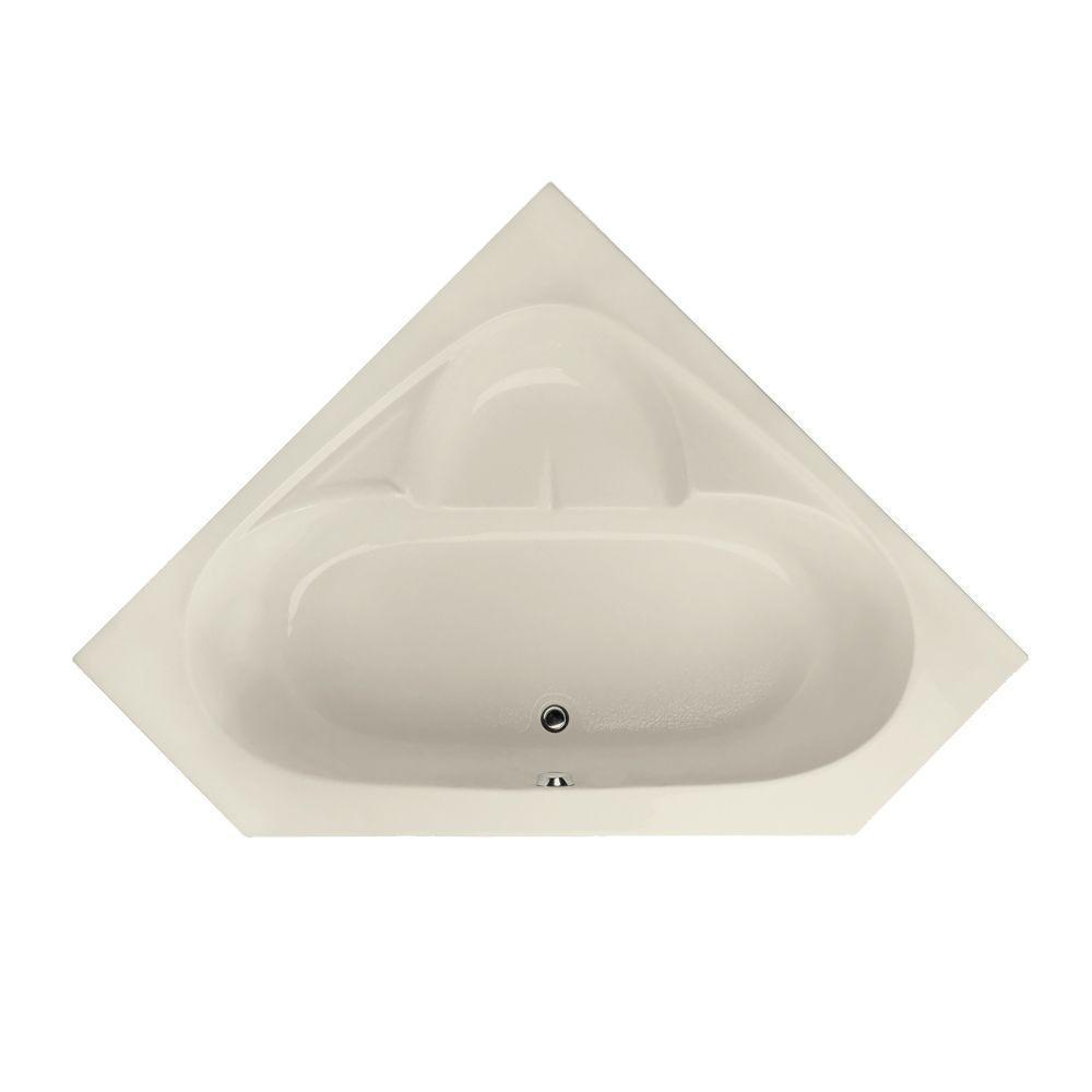 Hydro Systems Studio 5 ft. Corner Center Drain Bathtub in...