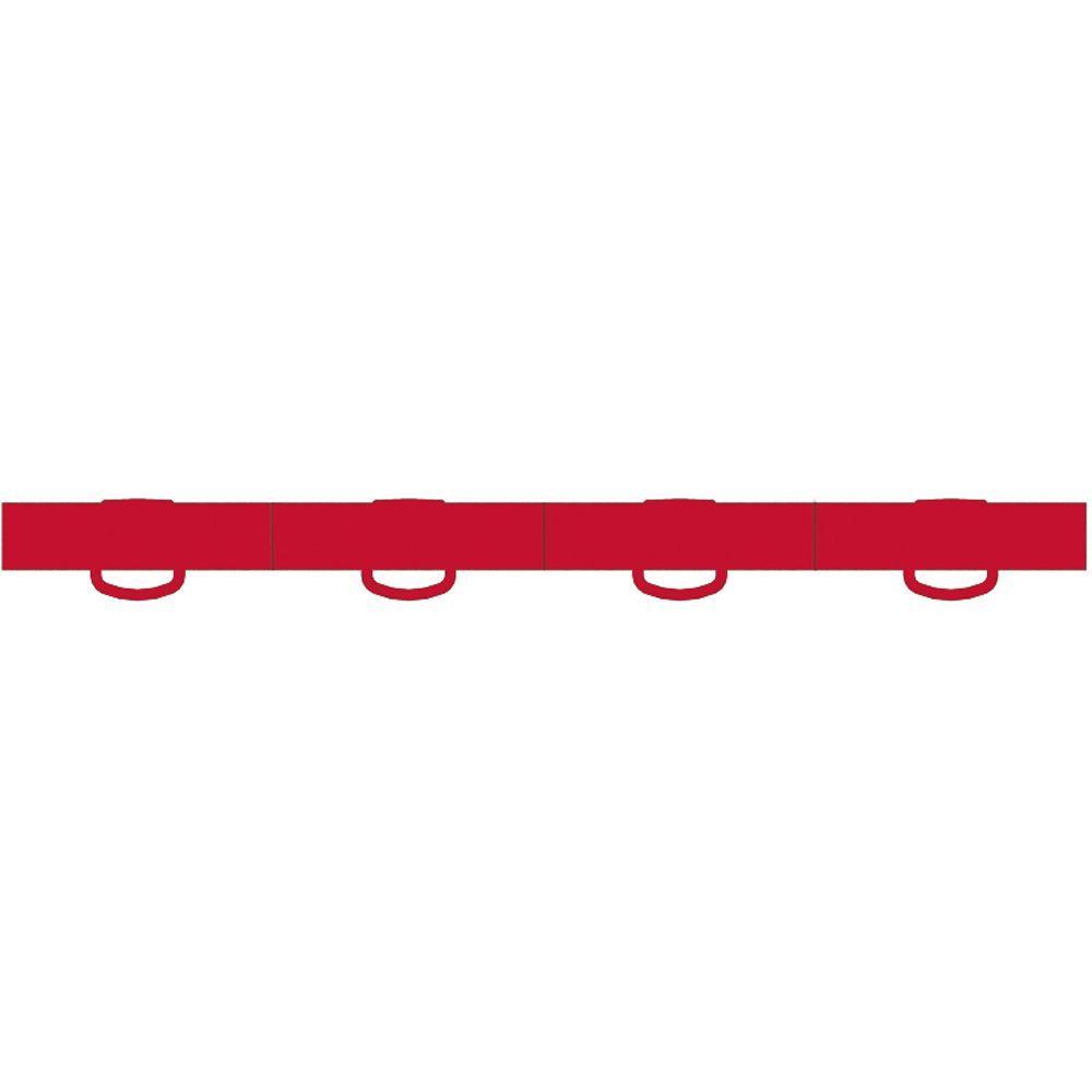 WeatherTech TechFloor 3/4 in. x 12 in. Red Vinyl Flooring Tiles (Quantity of 10)