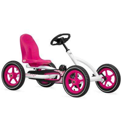 Buddy Children's White Pedal Go-Kart