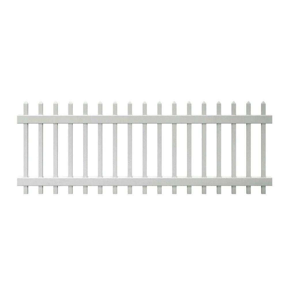 vinyl fence panels home depot. W White Vinyl Fence Panel-116083 - The Home Depot Panels