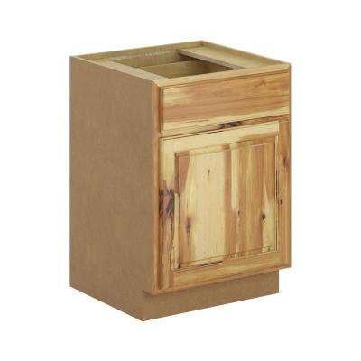 Madison Assembled 24x34.5x24 in. Base Cabinet with Soft Close Drawer in Hickory