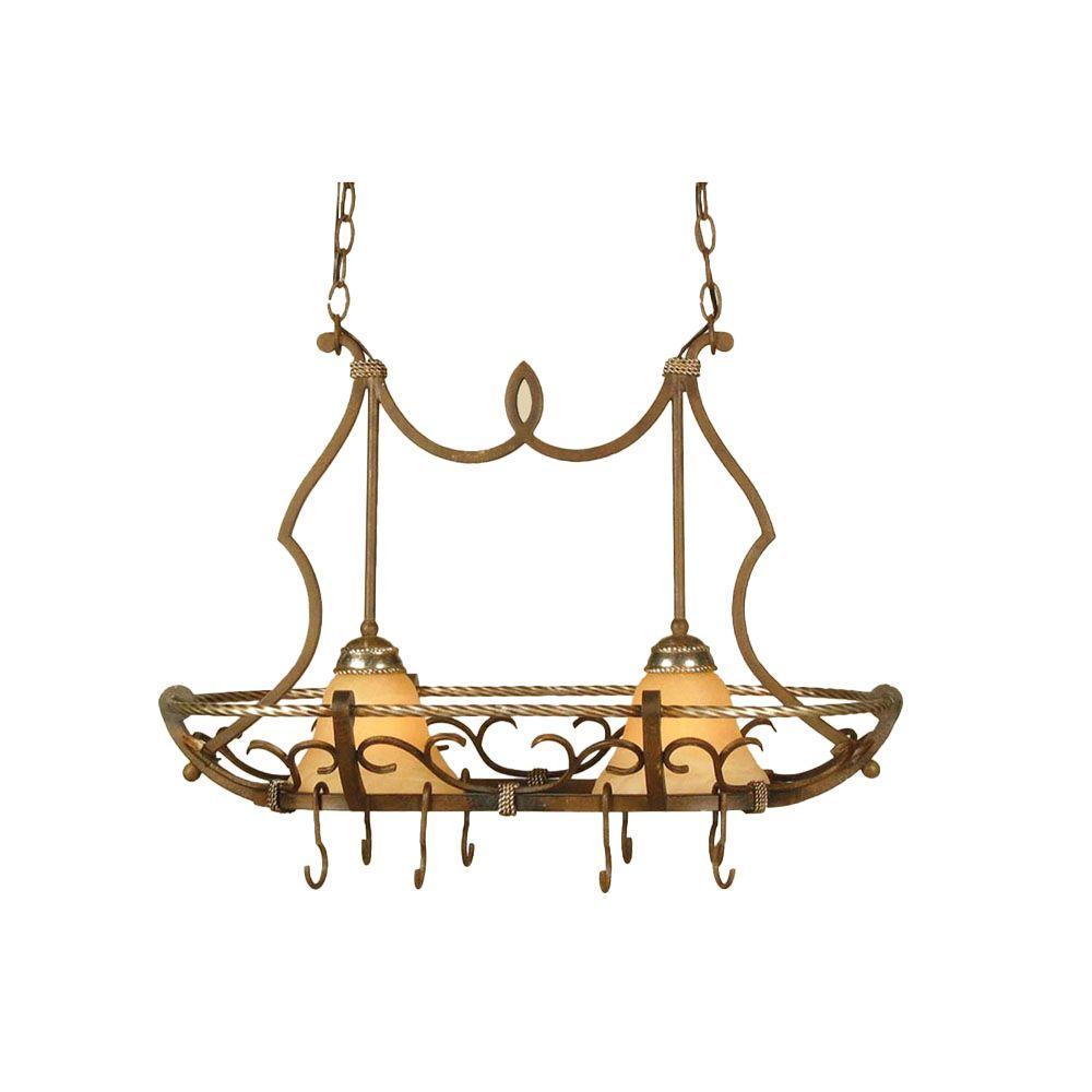 Wentworth 2-Light Bronze Crackle Island Pendant with Cream Alabaster Glass