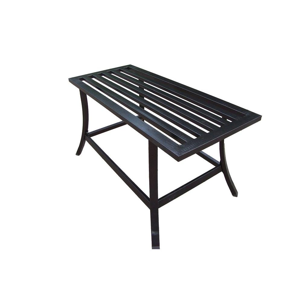 Oakland living rochester patio coffee table 6130 hb the home depot Patio coffee tables