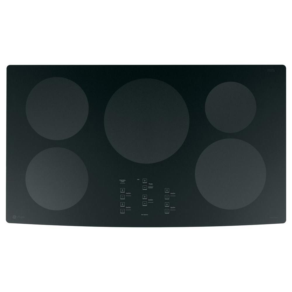 GE Profile 36 in. Glass Ceramic Electric Induction Cooktop in Black with 5 Elements