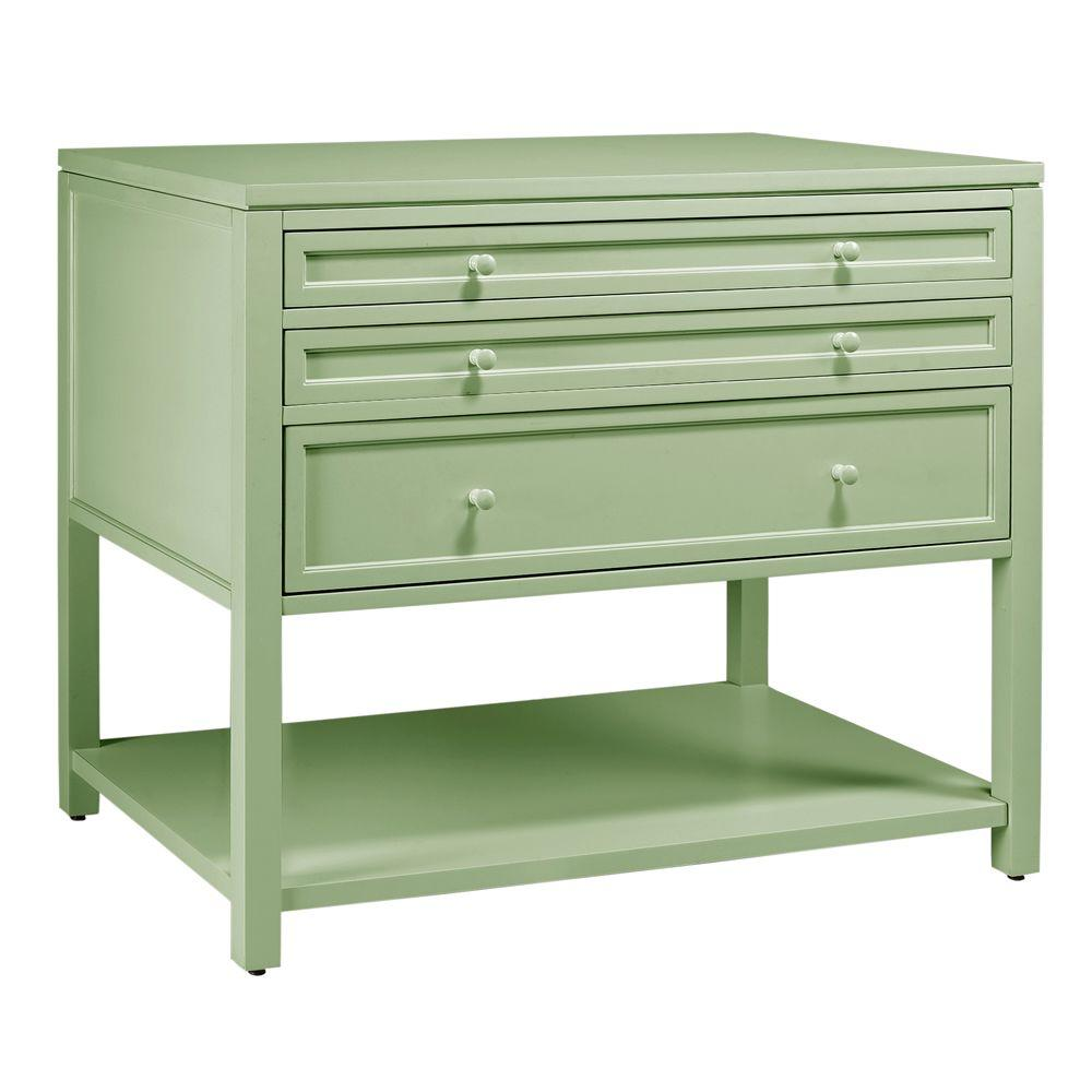 Martha Stewart Living 42 in. W Rhododendron Leaf Craft Space 3-Drawer Flat-File Cabinet