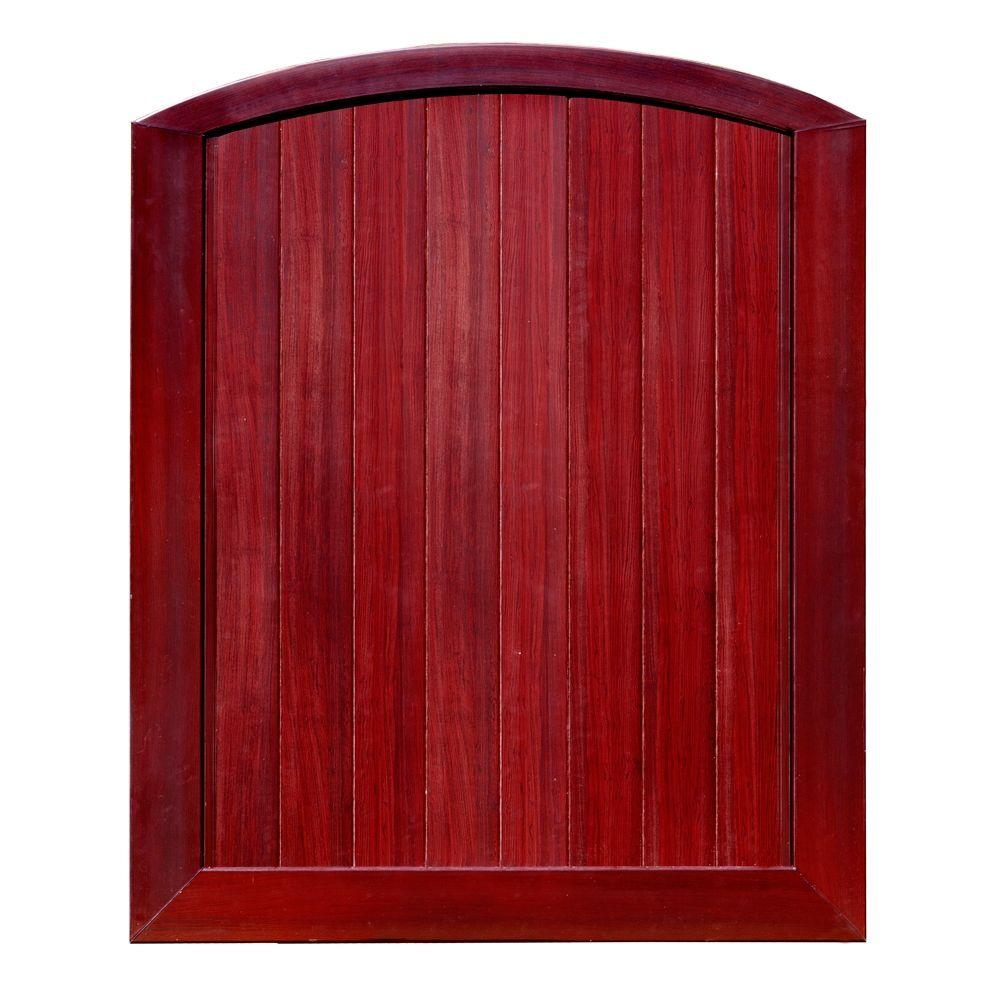 Veranda Pro Series 5 ft. W x 6 ft. H Mahogany Vinyl Anaheim Privacy Arched Top Fence Gate