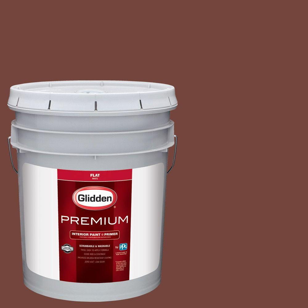 Glidden Premium 5 Gal Hdgo13d Old Redwood Semi Gloss Latex Exterior Paint Hdgo13dpx 05s The Home Depot