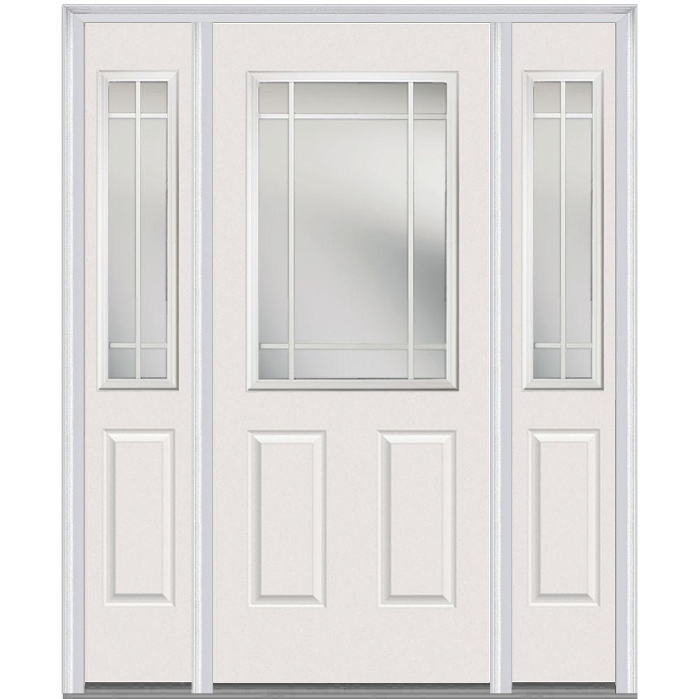 60 X 80 White Double Door Doors With Glass Fiberglass Doors