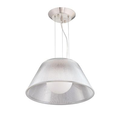 Ribo Collection 1-Light Chrome and Clear Large Pendant