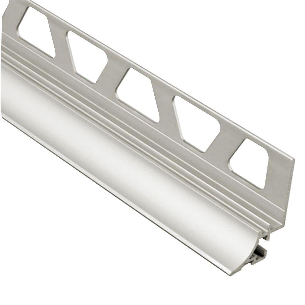 Schluter Rondec-Step Satin Anodized Aluminum 3/8 in. x 8 ...