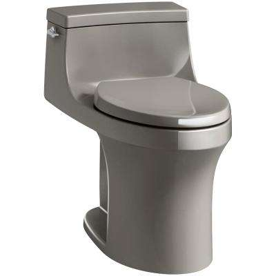 San Souci 1-Piece 1.28 GPF Single Flush Elongated Toilet in Cashmere, Seat Included