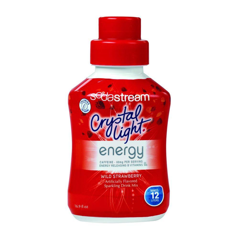 SodaStream 500ml Soda Mix - Crystal Light Strawberry Energy (Case of 4)