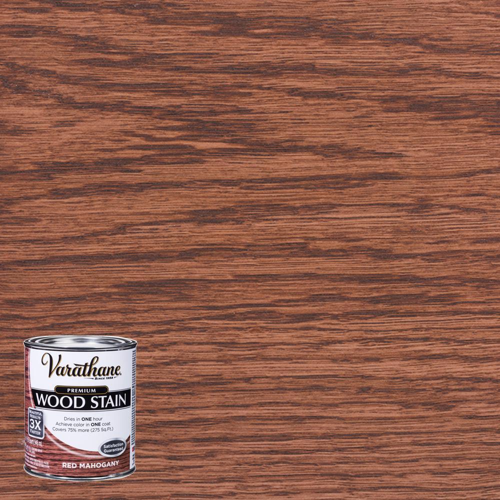 Varathane 1 Qt Red Mahogany Premium Fast Dry Interior Wood Stain
