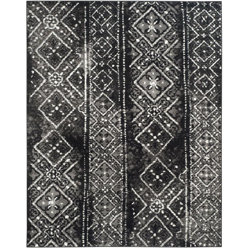 Adirondack Black/Silver 8 ft. x 10 ft. Area Rug