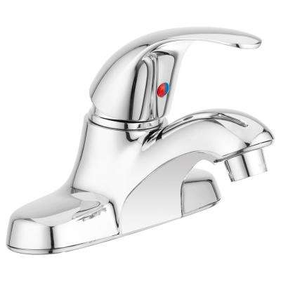 4 in. Centerset Heavy Duty Single-Handle Arc Spout RV Bathroom Faucet in Chrome